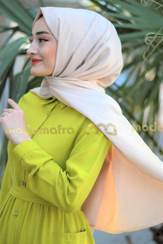 Modam Afra - Medine İpeği Şal - Bal Köpüğü